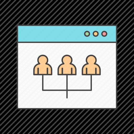 browser, profile, web icon