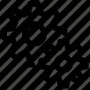 efficiency, gear, processing, productivity, progress, rotation, working icon