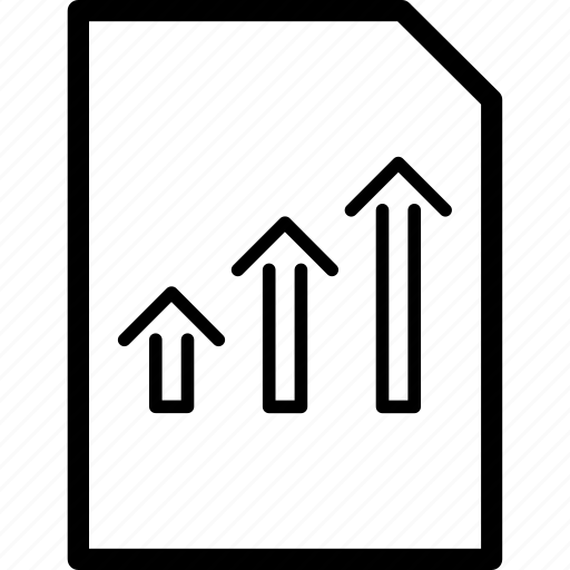 chart, doc, document, report icon