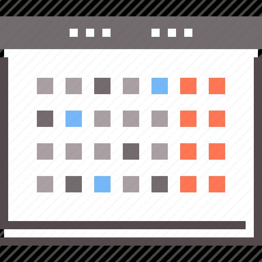 calendar, dates, event icon