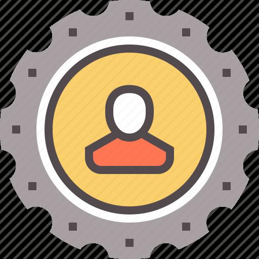 development, process, production, productivity, user, workforce icon