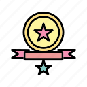 achievement, b011, badge, medal, star, trophy, winner icon