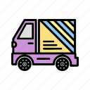 b033, deliver truck, delivery, shipping, transport, transportation, truck icon