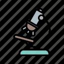 b046, experiment, laboratory, medical, microscope icon