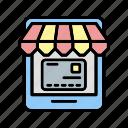 b049, business, internet, money, online, online shop, shop icon