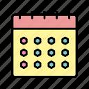 b057, calendar, event, month, plan, schedule icon