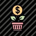 analytics, b060, business, finance, growth, plant, statistics icon