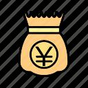 b064, bag, cash, currency, dollar, money, money bag icon