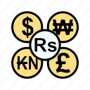 b070, banking, currency, dollar, exchange, finance, transfer icon