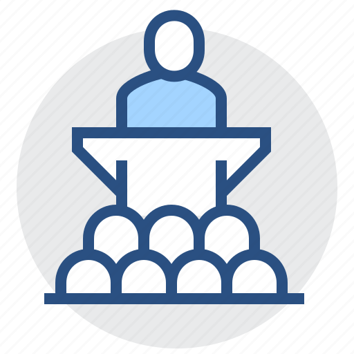 business, conference, presentation, presenter, speaker, spech icon