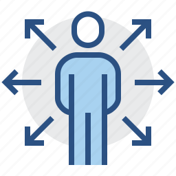 extend, human, man, opportunities, user, ways icon