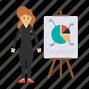 board, chart, employee, graph, presentation icon