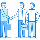 business, guy, handshake, man, team, teamwork icon