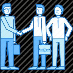 business, guy, handshake, man, team, teamwork icon