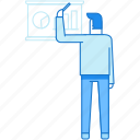 business, man, presentation, train, tutor icon