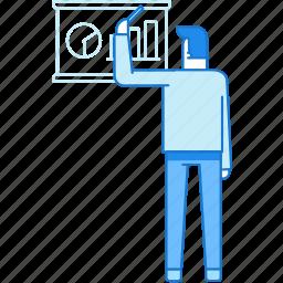business, man, presentation, train, tutor icon