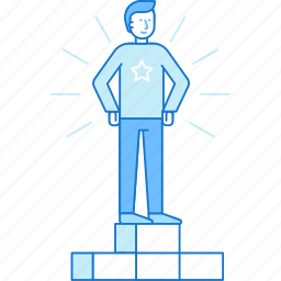 business, competition, first, man, place, succees, win icon