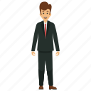 businessman, businessman avatar, happy businessman, happy smiling businessman, young business character