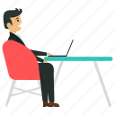 business avatar, business character, business owner, entrepreneur at work, freelancer icon