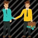 business partners, business partnership, business profit concept, male business partners, profitable partnership icon