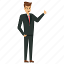 business character, businessman giving thumbs up, friendly businessman, happy businessman, successful businessman