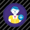 add, add account, add user, user icon