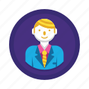 avatar, businessman, consultant, manager, profile, user icon