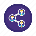 connection, connections, network, share, social icon