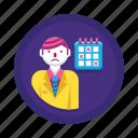 calendar, deadline, overdue, schedule, timeline icon