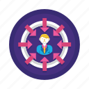 downsize, downsizing, retrenchment icon