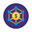 finance, financial, income, income distribution, money, pay icon