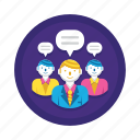 conversation, discussion, internal, internal meeting, meeting icon