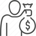 bag, business, concept, dollar, money, people, person icon