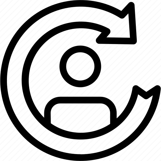 arrows, businessman, circular, refresh, suit, switch, tie, user icon icon