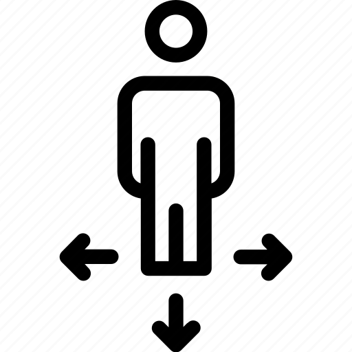 arrows, businessman, choice, decision, directions, possibility, ways icon icon