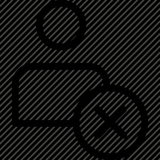 businessman, cancel, close, delete, man, people, x icon icon