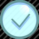 accept, agree, apply, mark, ok icon