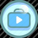 appstore, market, shop, suitcase