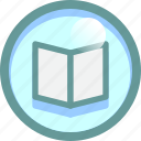 book, details, list, read icon