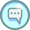 chat, cloud, conversation, message, typing