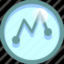 dynamic, graph, markets, sales icon