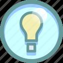 bulb, develop, idea, light icon