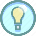 bulb, develop, idea, light