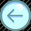 arrow, back, left, pointer