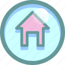 building, home page, house, main, menu icon
