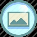 attachment, file, photo, picture icon
