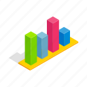business, chart, columns, diagram, isometric, progress, statistic icon