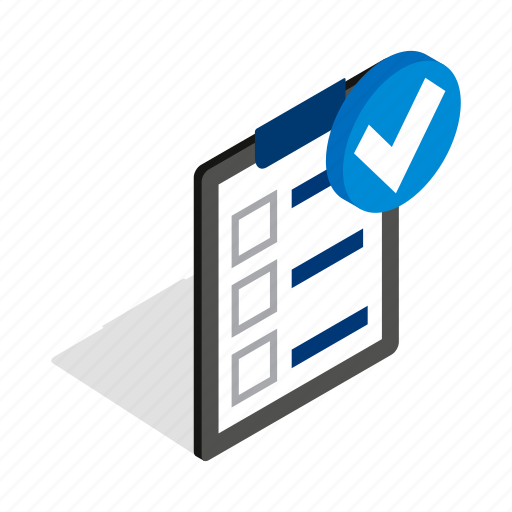 business, concept, data, executed, isometric, paper, plan icon