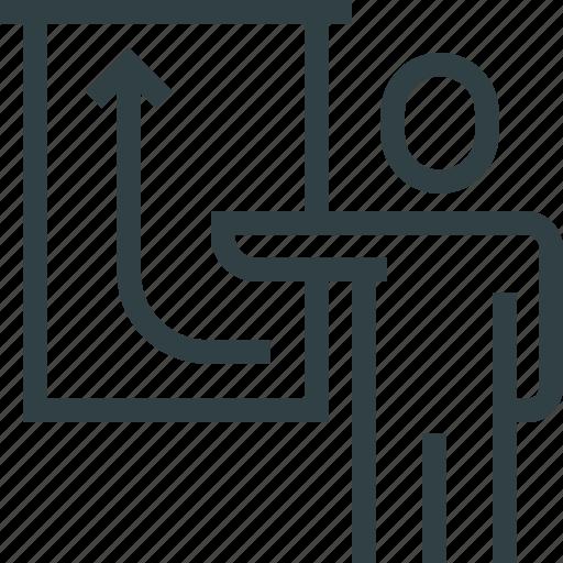 business, diagram, graphic, presentation, presenter icon