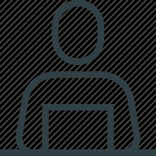 human, instructor, person, presenter icon